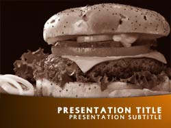 Free Junk Food PowerPoint Template Title Master