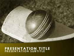 Free Cricket PowerPoint Template Title Master