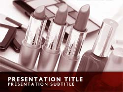 Free Cosmetics PowerPoint Template Title Master