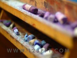 Artist Pastels Photo Image