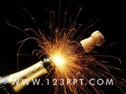 Champagne Fireworks Photo Image
