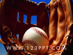 Baseball & Pitchers Glove Photo Image