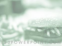 Fast food Burger & Fries powerpoint background