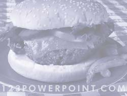 Homemade Burger powerpoint background