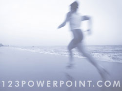 Jogging powerpoint background