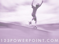 Teen Skateboarding powerpoint background