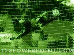 Soccer Goalkeeper Save powerpoint background
