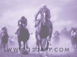 Horse Racing powerpoint background