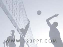 Royalty free volleyball powerpoint background in blue volleyball powerpoint background toneelgroepblik