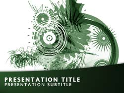 Royalty free abstract art powerpoint template in green abstract art title master slide design toneelgroepblik