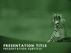 Royalty free wild cats conservation powerpoint template in green the wild cats conservation powerpoint template in green for microsoft powerpoint toneelgroepblik Gallery