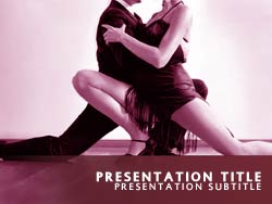Ballroom Dancing Title Master slide design