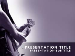 Royalty free playing guitar powerpoint template in purple playing guitar title master slide design toneelgroepblik Gallery