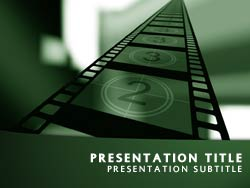 The Movie PowerPoint Template In Green for Microsoft PowerPoint bG9HqOZM