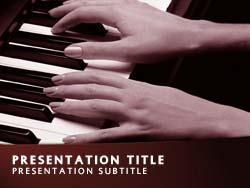 Classical Music Title Master slide design
