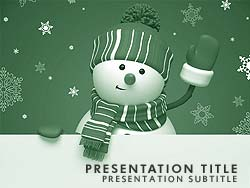 Frosty The Snowman Title Master slide design