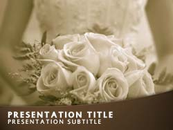 royalty free wedding bride powerpoint template in orange, Powerpoint templates