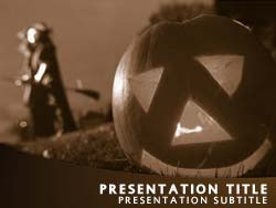 Halloween Pumpkin Title Master slide design