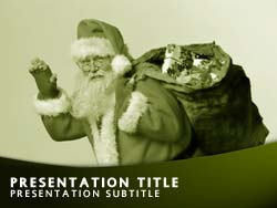 Father Christmas & Gifts Title Master slide design