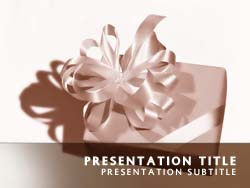 Gift Wrapped Present Title Master slide design