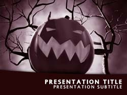 Halloween Title Master slide design