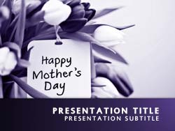 Happy Mothers Day Title Master slide design