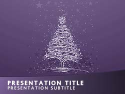 Christmas Title Master slide design