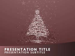 royalty free christmas powerpoint template in red, Modern powerpoint