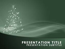 royalty free happy holidays powerpoint template in green, Powerpoint templates