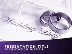 Royalty free wedding powerpoint template in purple the wedding powerpoint template in purple for microsoft powerpoint toneelgroepblik Image collections