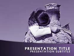 royalty free veterans day powerpoint template in purple, Powerpoint templates