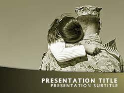 Veterans Day Title Master slide design