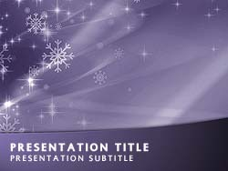 Merry Christmas Title Master slide design