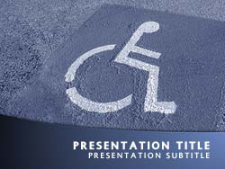 Royalty Free Disabled Parking Powerpoint Template In Blue