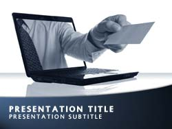 Online Business Title Master slide design