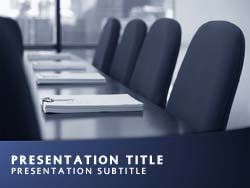 Boardroom Title Master slide design
