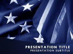 royalty free patriotism usa flag powerpoint template in blue, Modern powerpoint
