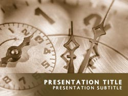 royalty free time powerpoint template in yellow