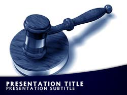 royalty free law powerpoint template in blue, Powerpoint templates