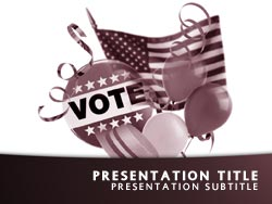 royalty free politics powerpoint template in red, Presentation templates
