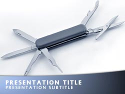 Royalty Free Swiss Army Knife Powerpoint Template In Blue