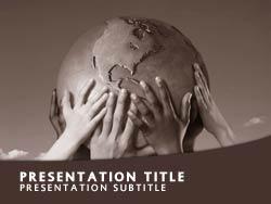 Royalty free global culture powerpoint template in orange global culture title master slide design toneelgroepblik Images