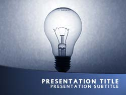 royalty free light bulb powerpoint template in blue, Powerpoint templates