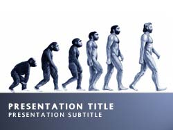 Royalty free evolution powerpoint template in blue evolution title master slide design toneelgroepblik Image collections