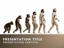 Evolution Title Master slide design