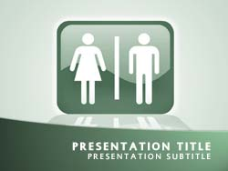 royalty free toilet powerpoint template in green