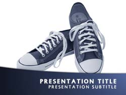 royalty free sneakers powerpoint template in blue, Presentation templates
