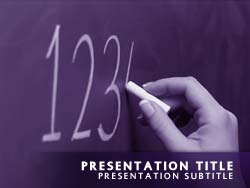 royalty free math powerpoint template in purple, Modern powerpoint