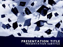 Royalty free graduation day powerpoint template in blue graduation day title master slide design toneelgroepblik