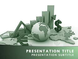 Royalty free world economy powerpoint template in green world economy title master slide design toneelgroepblik